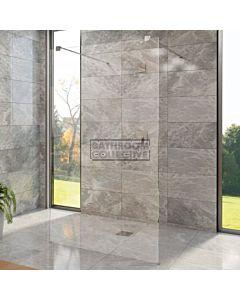 Decina - M-Series 1150mm Freestanding Glass Shower Panel