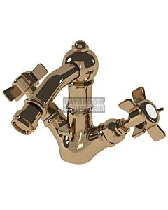 Nicolazzi - 1434 Bidet Twinner Tap Set in Copper with Dame Anglaises Handles