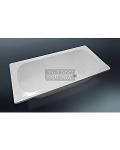 Paco Jaanson - 1500mm Nueva Drop-in Enamelled Steel Island Bath GLOSS WHITE