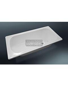 Paco Jaanson - 1600mm Nueva Drop-in Enamelled Steel Island Bath GLOSS WHITE
