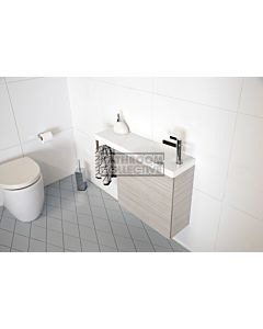 ADP - Petite Wall Hung Vanity with Hand Towel Rail 800mm, White Poly Marble Top