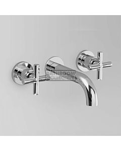 Astra Walker - Icon + Wall Basin Tap Set 155mm, Cross Handle, CHROME A67.05.FC