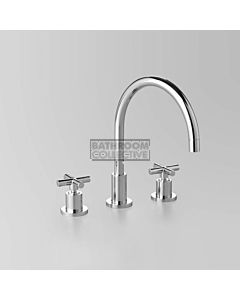 Astra Walker - Icon + Hob Bath Tap Set, Cross Handle, CHROME A67.07.V9