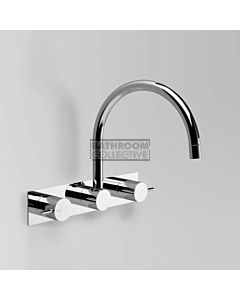 Astra Walker - Icon Wall Kitchen Sink Tap Set, Lever Handle, CHROME A69.28.BP.FC