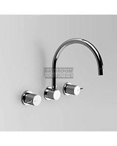 Astra Walker - Icon Wall Kitchen Sink Tap Set, Lever Handle, CHROME A69.28.FC