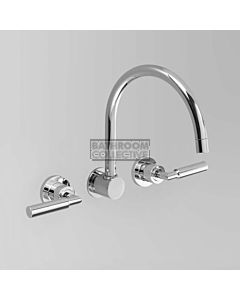 Astra Walker - Icon + Lever Wall Bath Tap Set CHROME A67.28.LH