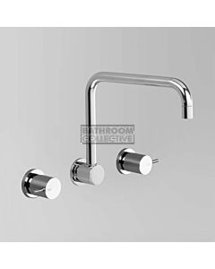 Astra Walker - Icon Wall Kitchen Sink Tap Set, Lever Handle, CHROME A69.28.V2.FC