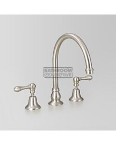 Astra Walker - Olde English Hob Bath Tap Set 200mm, Lever Handle A51.07.V9.ML-BRUSHED-PLATINUM