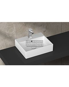 Paco Jaanson - Isvea Purity 500mm Bench Mounted Basin 1TH Gloss White Glazed Back