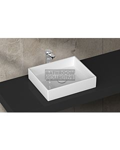 Paco Jaanson - Isvea Purity 500mm Top Mounted Vessel Basin Gloss White