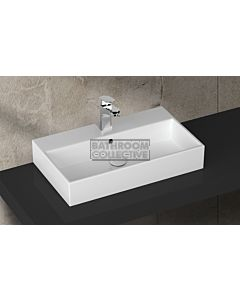 Paco Jaanson - Isvea Purity 710mm Wall / Bench Mounted Basin 1TH Gloss White