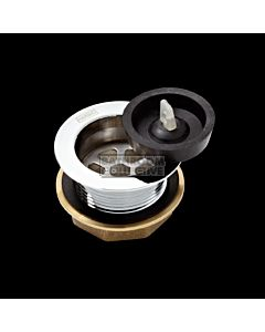 Harbic Brassware - 40mm Bath or Basin Waste with Rubber Plug with 45mm Tail