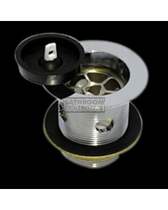Harbic Brassware - 50mm Overflow Bath or Sink Waste with Rubber Plug & 80mm Tail