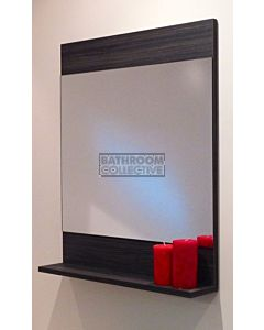 Rifco - Cube Mirror with Shelf 600mm Wide x 700mm High