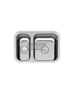 Paco Jaanson - Sardinia 608mm 1 & 1/2 Bowl Undermont Kitchen Sink