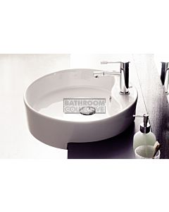 Paco Jaanson - 03 Series Geo 475mm Semi Recessed Basin 1TH Gloss White
