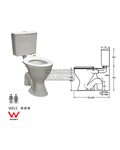 Johnson Suisse - Plaza Ambulant Xtra Toilet (S Trap 140 - 180mm)