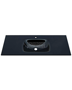 Fienza - Mambo Black Glass 1200mm Vanity Top Only