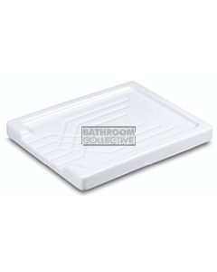 Shaws of Darwen - Large Fluted Fireclay Drainer WHITE