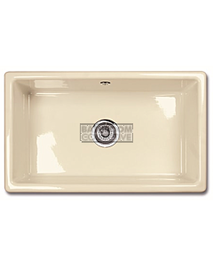 Shaws of Darwen - Classic 800 Inset or Undermount Rectangle Kitchen Fireclay Sink 760 x 460 x 265mm BISCUIT
