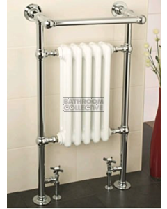 Raveena - Wall Mounted Heated Towel Warmer Dual Fuel 510x955mm DFBJR4