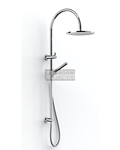 Faucet Strommen - Pegasi Dual Shower 600, Curved Arm, Micro Hand Shower, 250 Head 30672-11
