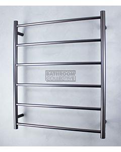 Radiant - Round 6 Bar Towel Ladder 830H x 700W GUNMETAL GREY
