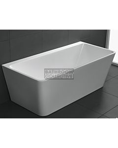 Broadway - Andrea 1700mm Back To Wall Acrylic Spa with 10 Jets Electronic Touch Pad WHITE