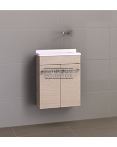 Timberline - Ensuite 500mm Wall Hung Narrow Vanity with Polymarble Top