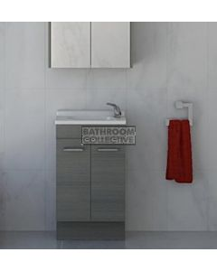 Timberline - Ensuite 500mm Floor Standing Narrow Vanity with Polymarble Top