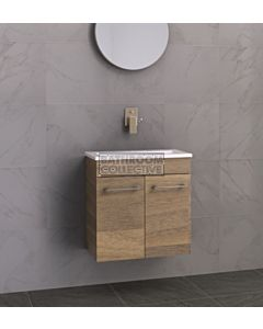 Timberline - Ensuite 600mm Wall Hung Narrow Vanity with Acrylic Top