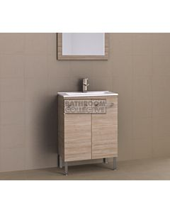 Timberline - Florida Ensuite 600mm On Leg Narrow Vanity with Ceramic Top