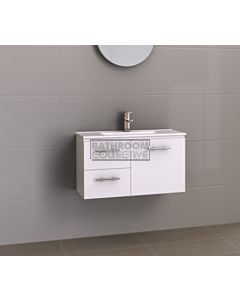 Timberline - Florida Ensuite 800mm Wall Hung Narrow Vanity with Ceramic Top