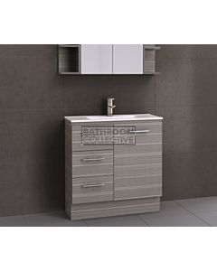 Timberline - Florida Ensuite 800mm Floor Standing Narrow Vanity with Ceramic Top