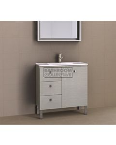Timberline - Florida Ensuite 800mm On Leg Narrow Vanity with Ceramic Top