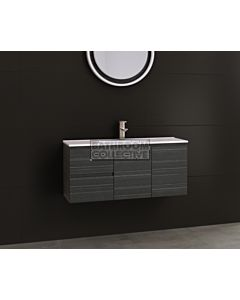 Timberline - Florida Ensuite 1000mm Wall Hung Narrow Vanity with Ceramic Top