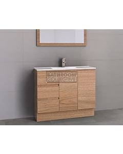 Timberline - Florida Ensuite 1000mm Floor Standing Narrow Vanity with Ceramic Top