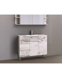 Timberline - Florida Ensuite 1000mm On Leg Narrow Vanity with Ceramic Top