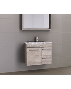 Timberline - Ensuite 750mm Wall Hung Narrow Vanity with Acrylic Top