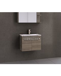 Timberline - Florida Ensuite 600mm Wall Hung Narrow Vanity with Ceramic Top
