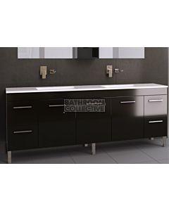 Timberline - Bargo 2100mm On Leg Vanity with Double Basin Acrylic Top