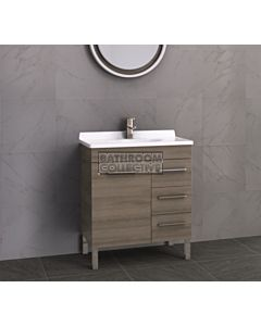 Timberline - Eden 750mm On Leg Vanity with Acrylic Top