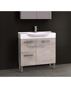 Timberline - Lisbon 850mm On Leg Vanity with Ceramic Top