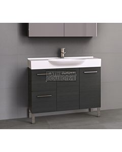 Timberline - Lisbon 1050mm On Leg Vanity with Ceramic Top