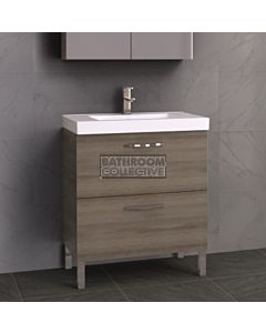 Timberline - Orlando 750mm On Leg Vanity with Grand Acrylic Top