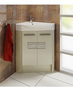 Timberline - Lisbon 510mm Floor Standing Corner Vanity with Ceramic Top