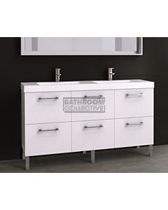 Timberline - Orlando 1500mm On Leg Vanity with Double Basin Grand Acrylic Top