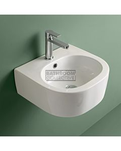 Kerasan - Flo 40 Wall Hung Counter Top or Ceramic Basin (1 tap hole)
