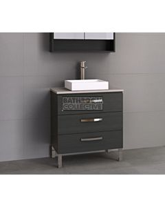 Timberline - Ashton 750mm On Leg Vanity with Stone, Freestyle or Meganite Top and Ceramic Basin