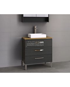 Timberline - Ashton 750mm On Leg Vanity with Timber Top and Ceramic Basin